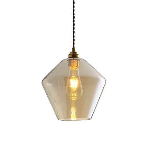 Pendelleuchten aus Glas Modern Kreative Esstisch Hängeleuchten Höhenverstellbar Luxus Design Aus Messing und mundgeblasenem Glas, für Wohnzimmer Esszimmer Küche Schlafzimmer Innenbeleuchtung E27,B -