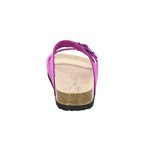 AFS-Schuhe 2100, sportliche Damen-Pantoletten, praktische Arbeitsschuhe, hochwertiges, echtes Leder Pink