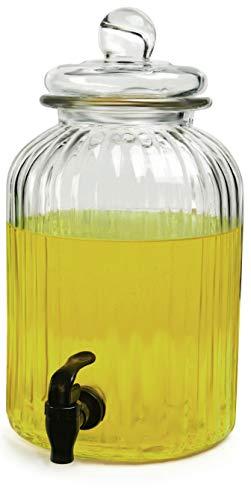 Circleware Home & Kitchen Glasware Getränkekrug für Saft, Bier, Kombucha & Kaltgetränke 1.3 Gallon, Ridge -