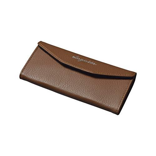 Brieftasche | 2in1 faltbare Geldbörse | 100% Vollnarbiges Leder, Design in Frankreich | Universal, kompatibel mit Rayban, Persol, Dior | Sonnenbrillen