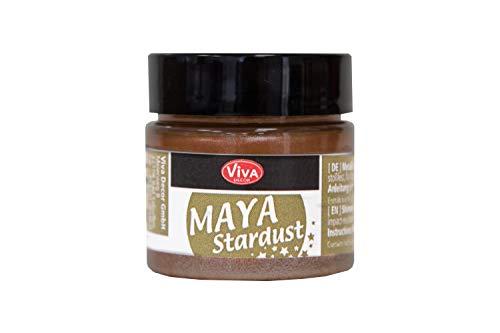 Farben Kakao (Maya Stardust 45ml (Kakao) - - - Glanz-Farbe, Metallic-Farben, Acryl-Metallic, Metallica-Farben, Acryl Beton-Farbe, wetterfest von Viva-Decor)