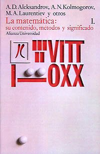 La matemática: su contenido, métodos y significado, 1 (Alianza Universidad (Au)) por A. D. Aleksandrov