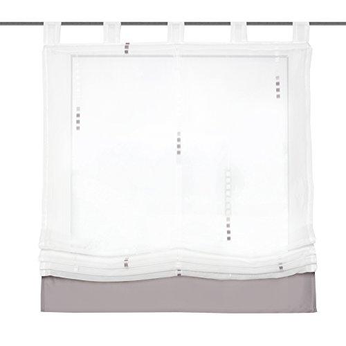 Home fashion 79445-760 Schlaufenrollo, Scherli, 140 x 120 cm, stein