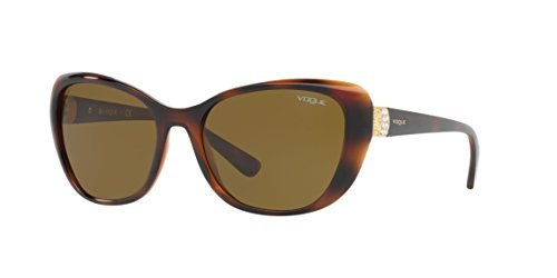 Vogue Gradient Oval Sunglass For Women(Brown)