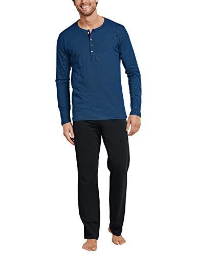 Schiesser Herren Anzug Lang 159630 Zweiteiliger Schlafanzug, Blau (Royal 819), XX-Large (110)