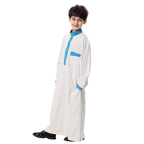 Arabien Saudi Kostüm Frauen - Oyedens Muslimische Robe Junger Teenager, Mittlerer Osten Robe Junge Langarm Saudi-Arabien Islamisches Sommer KostüM Muslimische Kleidung, Bequem, Atmungsaktiv Und Cool
