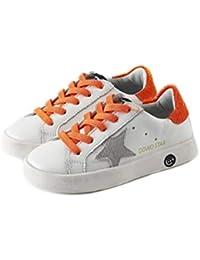 XL_etxiezi Zapatos Retro Boy Star Zapatos niña, Naranja_28