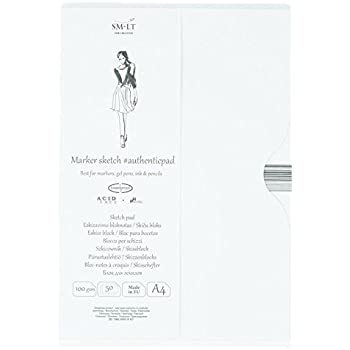 SMLT PA 60/Authentic Line A4/Sketch Pad Authenticpad 60/Sheets 120/GSM White Paper