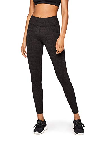 AURIQUE Damen Yoga Sport-Leggings, Grau (Charcoal Marl Charcoal Marl), 38 (Herstellergröße: Medium)