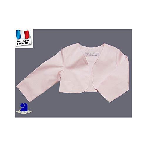 Poussin bleu - Boléro court baptême, cérémonie 0 mois-10 ans Made in France 2a761ae3e52