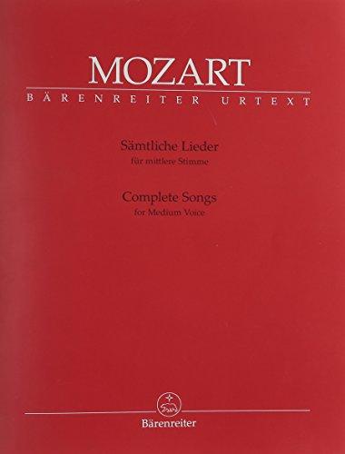 Sämtliche Lieder für mittlere Stimme, Gesang und Klavier