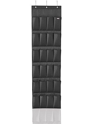Leifheit 80015 Organizador para Puerta, Tela, Negro, 25 x 48 x 4 cm