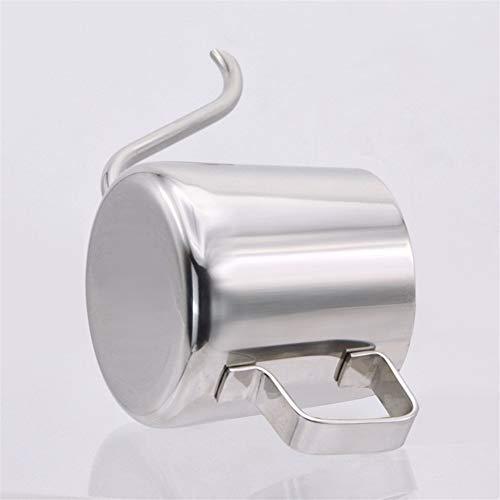 250ml Mini Teiera in acciaio inox a goccia caffè pentola a becco lungo tazza di casa cucina attrezzo del tè (Color : Stainless Steel)