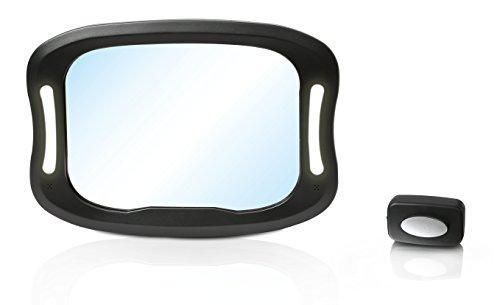 Preisvergleich Produktbild Altabebe AL1108 Luxus LED Baby Spiegel, schwarz