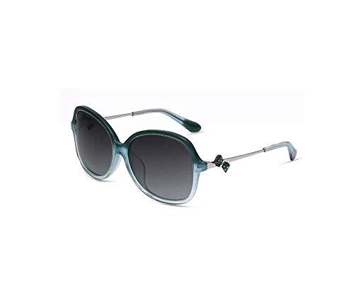 ZTMN Polarisierte Sonnenbrille Frauen 's rundes Gesicht Persönlichkeitstrends Big Frame Brille Travel Driving Essentials (Farbe: Blau)