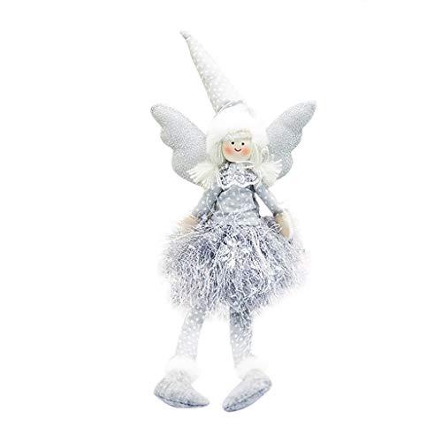 Mumuj Weihnachten Deko, Weihnachtsbaum Weihnachts Baumdecke Weihnachten Dekoartikel Christmas Angel Doll Christmas Long Feet Doll Decoration Home Party Ornament