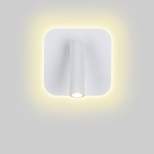 Azanaz aplique pared LED integrado lectura, lámpara