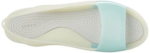 Crocs ColorBlock W - Sandali Donna Blu (Sea Foam/Pearl White)