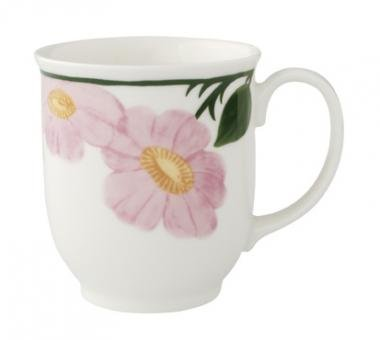 Villeroy & Boch Charm and Breakfast Wildrose Becher mit Henkel 0,42 l -