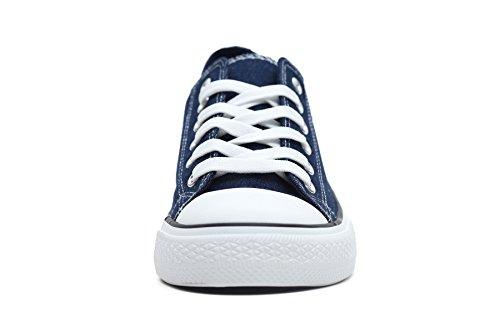 F.better Herren Sneaker Low-Tops Segeltuchschuhe Schuhe Denim