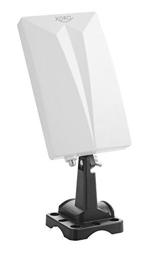 Xoro HAN 600 DVB-T2 aktive Kombo Antenne mit eingebautem Verstärker (LTE Rauschfilter, 3,5m Anschlusskabel, für Außen und Innen) weiß