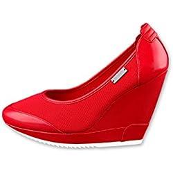 Adidas slvr French Olympics Ballerina Pumps Red US8/EU40