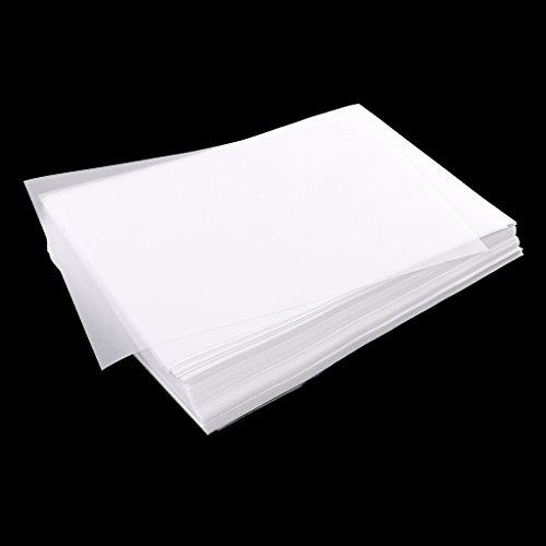 Hellery 200x Velinpapier 63gsm Transparentes Transparentpapier Zum Zeichnen Von 15x10cm
