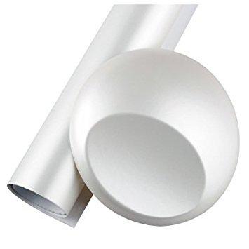 SODIAL(R) Satin Matte Chrome PVC Wrap Sticker,white,120X50CM