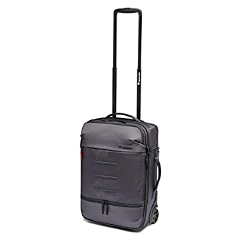 Manfrotto MB MN-R-RN-50 Manhattan Runner-50 Camera Roller Bag, with Tripod Attachment, Removable Photo Compartment, for DSLR and Mirrorless with Medium/Long Lens, Coated Fabric