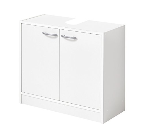 Fmd möbel bristol a6 mobile sotto lavabo, 63,7x28,1x55 h cm, bianco, truciolare
