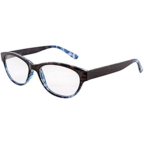 NEW NAVY BLUE READING GLASSES READERS SPRUNG TEMPLES CAT EYE