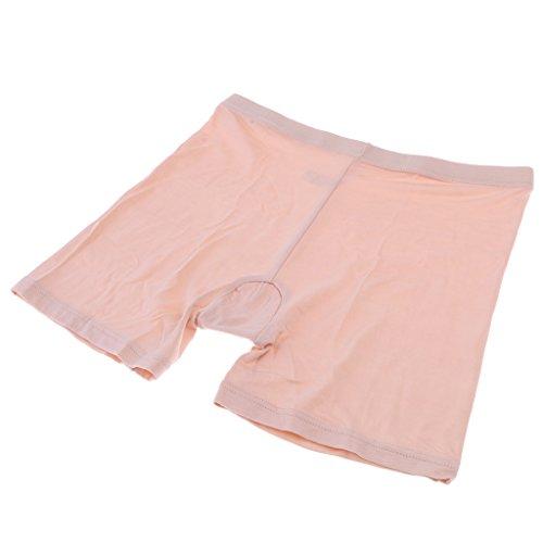 Bambus Damen-rock (MagiDeal Damen Slip Sicherheits Shorts Unterhose Rock Unterwäsche Bambus - Aprikose, XL)