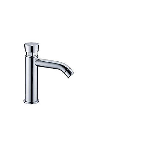 CAC Cuarto de baño Casa de latón cromado con cierre automático de ahorro de agua de grifo Grifo de retardo de tiempo