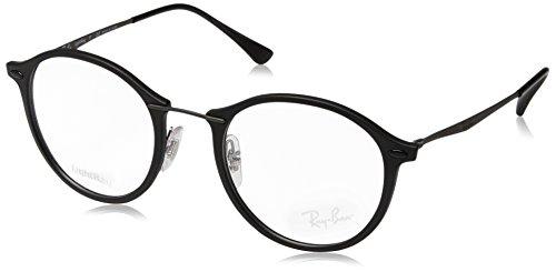 Ray-Ban Unisex-Erwachsene Brillengestell 0rx 7073 2077 49, Schwarz (Matte Black)