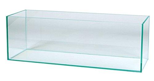 Aquarium Glasbecken 80x20x20 cm, 6 mm, rechteck, 32 Liter Becken, transparent verklebt