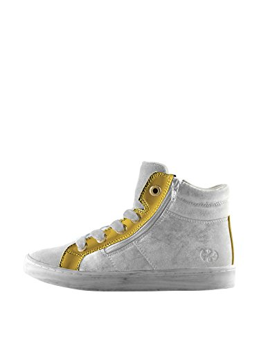 Sneakers - 4527-syntleapatj - Bambini White-Gold