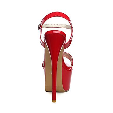 LFNLYX Sandales femmes Printemps Été Automne Cuir Confort Mariage & robe de soirée noir boucle talon aiguille rouge blanc Walking Red