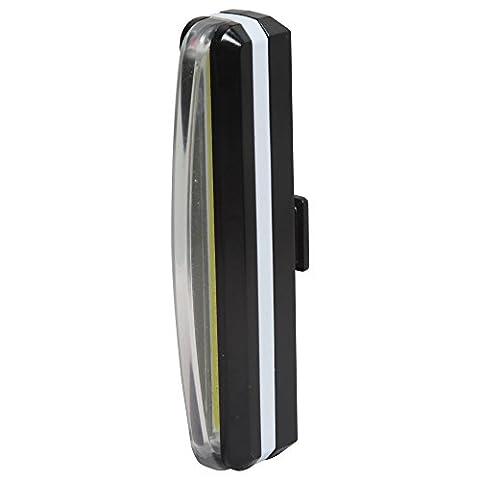 Sidiou Group Super Bright Fahrrad USB aufladbare Rücklicht Berg LED Fahrrad Rücklicht Warnleuchte Frontleuchte Rückleuchte mit Lenkerhalterung (weiß)