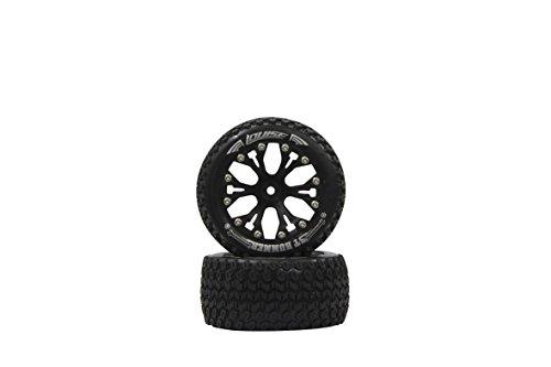 Jamara 052866 - Reifen, Felgen 1:10ST-Hummer, 1/2OS, 12 mm