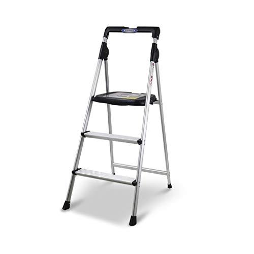 KJZ Car Wash Ladder, Metallleiter Multifunktions-Dreistufenleiter Klappbare Zweischrittleiter-Innenleiter Outdoor-Fotografie-Leiter (größe : 45 * 62 * 117CM)