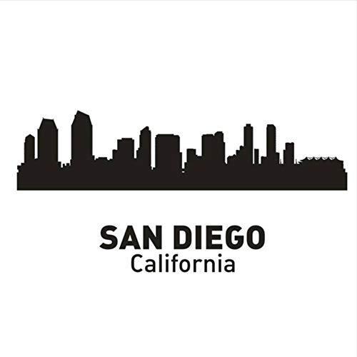Wandtattoos Wandsticker 30X60 Cm San Diego City Aufkleber Wahrzeichen Skyline Sketch Decals Poster Parede Home Decor Aufkleber -