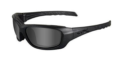 Wiley X Schutzbrille WX Gravity aus der Black Ops Kollektion, Matt Schwarz, M-L, CCGRA01