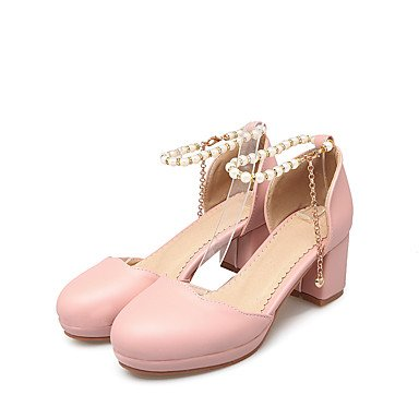 Enochx sandali Primavera Estate Autunno D'Orsay & in due pezzi PU Office & Carriera Party & abito da sera Chunky Heel perla blushing pink
