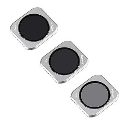 Neewer ND Lente Filtro para DJI Mavic 2 PRO Kit Lentes para Cámara, Incluye Filtros de Múltiples Capas ND4 ND8 ND16 con Caja para Fotografía, Se Ajusta a Cubierta Cardán (Marco Aleación Aluminio Gris)