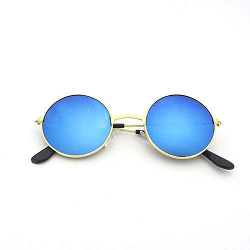 Retro Vintage Style Lennon inspiriert Runde Metall Kreis polarisierte Sonnenbrille für Frauen und Männer Metallrahmen polarisierte UV400,Style7