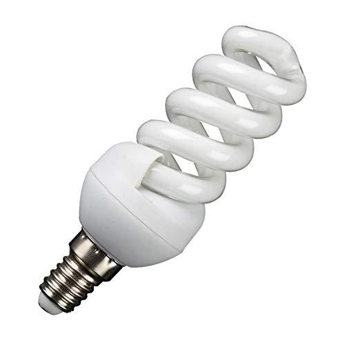 E14-Spiral-Energiesparlampe, 3000 K (warmes Licht) , Nicht dimmbar, 3er-Pack [Energieklasse A], 15W-Mini-Vollspirale -