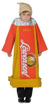 Kinder Kostüm Senf Senftube 2-teilig Größe 116 Karneval Fasching (Senf Kind Kostüme)
