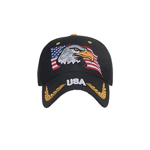 Syeytx Womens Mans Bunte Adlerflagge Baumwolle Hohe Qualität Gestickte Unisex Baseball Caps Einstellbar (Iron Kostüm Man 2 Mark)