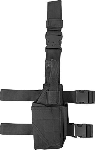 Universal Pistolenbeinholster verstellbar rechts Schwarz