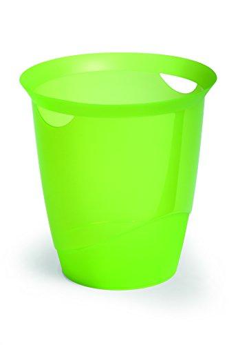 Set 6 DURABLE Cestino gettacarte TREND cilindro Ø 315mm 16 lt verde chiaro traslucido